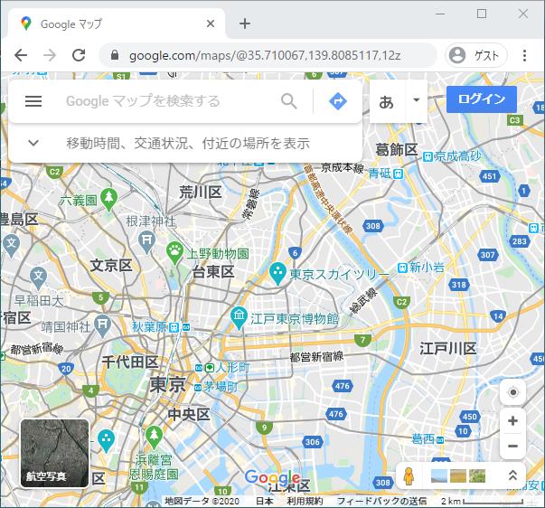 Googleマップ(倍率12倍)